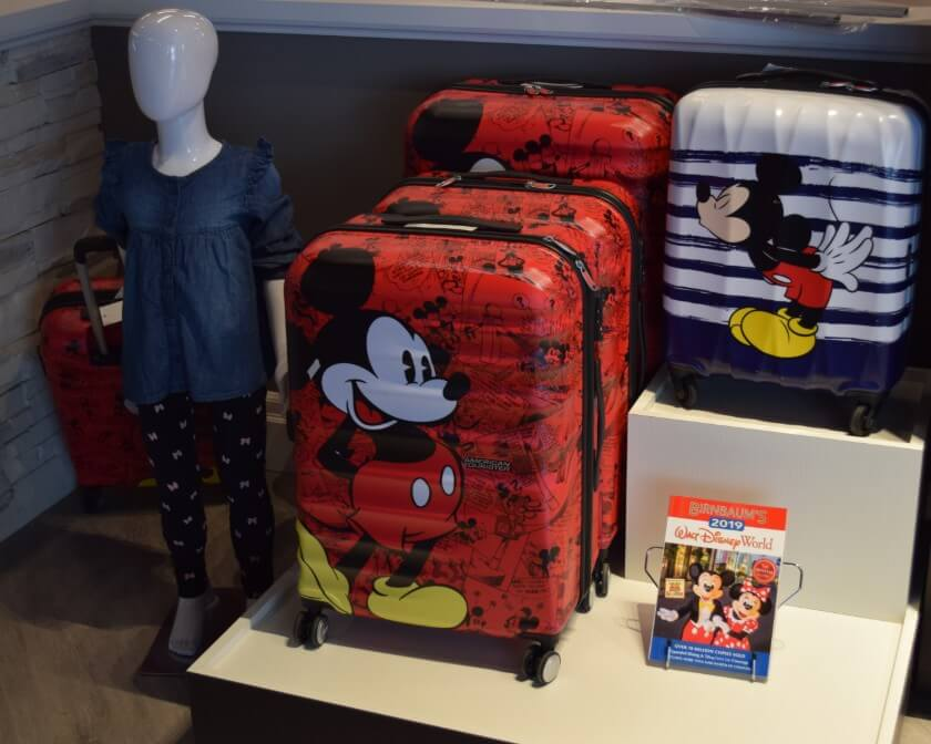 Mickey mouse children's luggage.